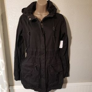 Garage Military Parka, color black,  sz small
